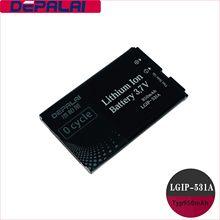 950mAh Para LGIP-531A/B IP-531E/Bateria Para Optimus Net 320G VN170 IP531A GB100 GB101 GB106 GB110 GB125 GM205 GS101 KG280