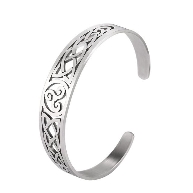 Vikings magnetic health stainless steel cuff bangle