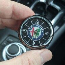 Araba dekorasyon saati Alfa Romeo araba ışık yuvarlak kuvars saat Dashboard hava çıkış dekorasyon 145 147 156 159 166 4C 8C