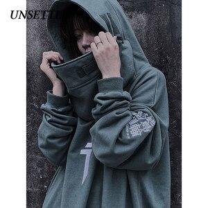 Image 5 - Herfst Hoge Hals Vis Mond Japanse Harajuku Hoodie Mannen Hip Hop Gothic Streetwear Sweatshirts Oversized Hoodies Vrouwen Mannelijke Tops