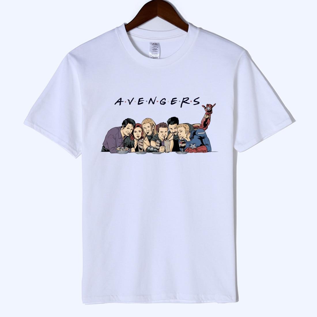 2019 Avengers Endgame Friends T Shirt Men Marvel Avengers Summer Men T Shirt Short Sleeve Brand Tee Shirt Tops amp Tees streetwear in T Shirts from Men 39 s Clothing