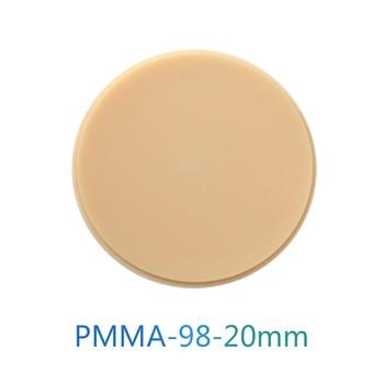 98x20mm PMMA Block A1/A2/A3/A3.5/A4/B1/B2/B3/B4 Dental Material for Make Temporary Bridge Dental Restorations CAD/CAM PMMA Disk цена 2017