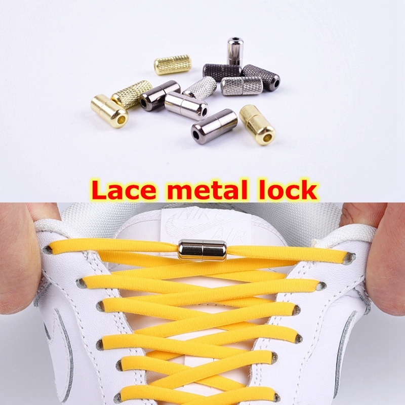 1Pair Shoelace Buckle Metal Shoelaces Lock Accessories Metal Lace Lock DIY Sneaker Kits Silver Gold Metal Lace Buckle 2pcs/pair