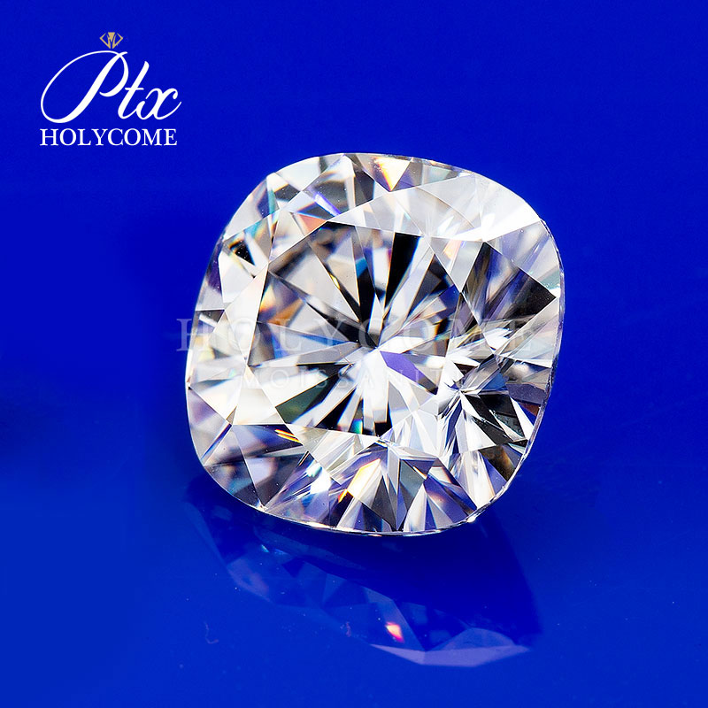 2020 Wholesale Custom high quality gemstone D color cushion cut 4*4MM loose Moissanite Серьги кольцо браслет кольц diamond