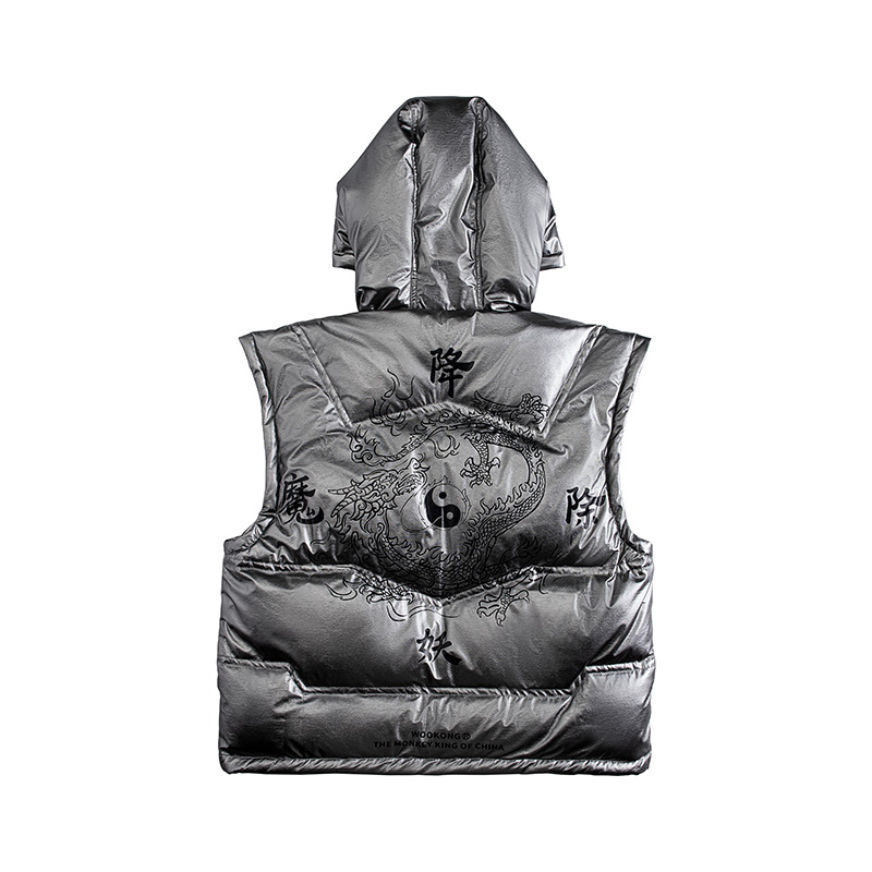2019 Brand New Winter Jacket Men Warm Down Jacket Siliver Clothing Fashion Brand  Outwear Coat Casual Waistcoat Thick Mens