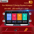 1 din android 10 автомобильный радио мультимедиа для Dacia Lodgy Logan  Duster Sandero Renault Captur/Lada/Xray Стерео DVD gps навигация
