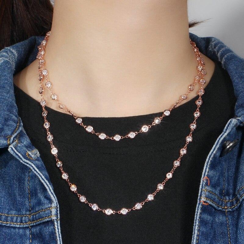 Round Choker Long Sweater Necklace