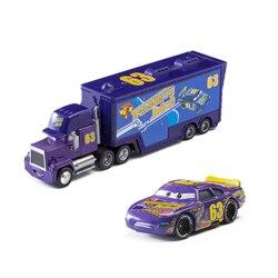 Nr 63 samochody 2 3 Disney pixa fioletowy samochód ciężarowy zygzak McQueen Jackson Storm Truck 1:55 odlewany Metal zabawka ze stopu dla dzieci