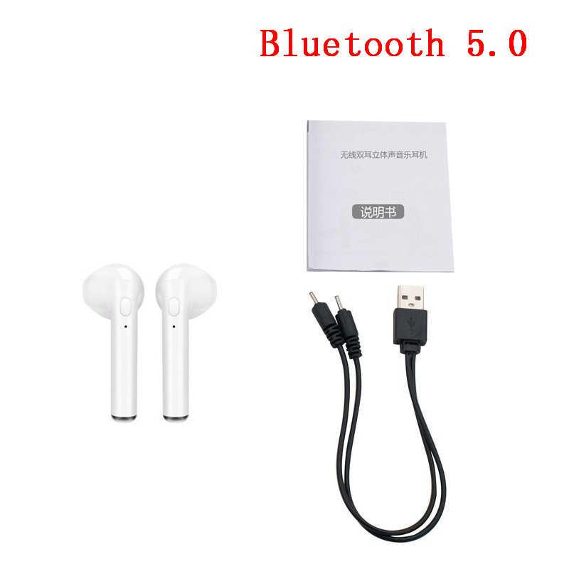 I7s TWS douszne słuchawki Bluetooth bezprzewodowy/a słuchawki Mini muzyka słuchawki sportowe słuchawki douszne zestaw słuchawkowy z mikrofonem dla iPhone 6 8 X xiaomi