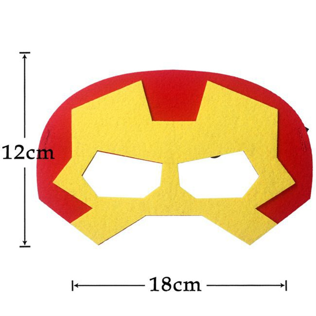 Superhero Cosplay Superman Batman Spiderman Thor IronMan kids Party Costumes Masks Cute Eye  Decorate Fancy Props Masquerade 5