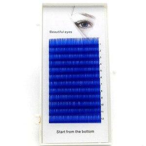 Image 3 - 2019 neue C/D curl 0,07/0,1mm 8/15mm falsche wimpern blau farbe wimpern individuelle farbigen wimpern Faux volumen wimpern extensions