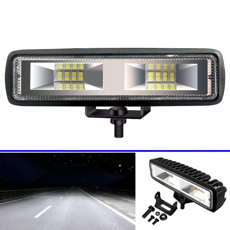 16LED Work Light Bar 48W 3030 1600LM 6000K IP67 Waterproof Car Spot Beam Fog Driving Lamp For Off-Road Vehicle SUV Truck Motor