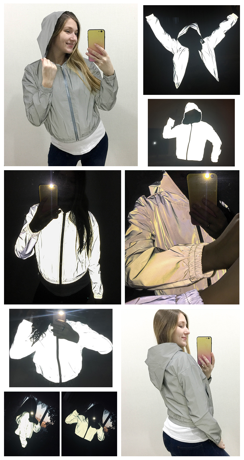 H033ce5fa6d484425aeb3b27d4d2e3128T - Mnealways18 Reflective Jacket Hip Hop Streetwear Fashion Casual Hooded Coat Zippers Autumn Women Jackets Coats Girls Neon