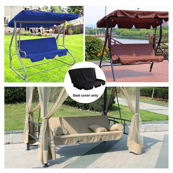 Patio Swing Seat Cover Dustproof Waterproof 190T Coated Silver Polyester Replacement Cover For Outdoor 3 Seat Swing Chair