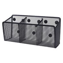 Metal Wire Mesh Magnetic Basket Storage Box Blackboard Chalk Pen Pencil Makeup