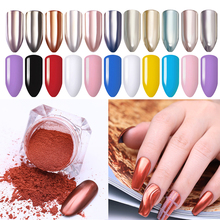 1 Box Mirror Nail Glitter Powder Shinning Art Pigment Dust Power Rose Gold Metal Manicure Decoration