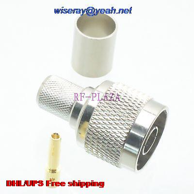 DHL/EMS 200pcs Connector RPN Male Crimp RG8 LMR400 RG213 RG165 RG393 Cable Straight -A3