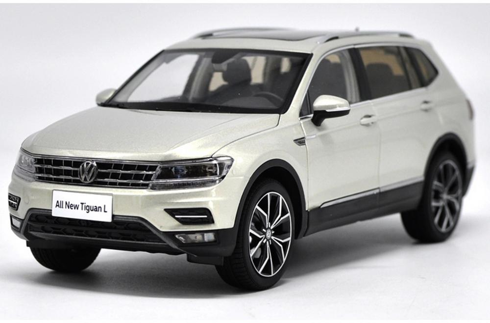 1/18 VW Volkswagen New Tiguan L 2017 Silver DieCast Car Model Toy Collection