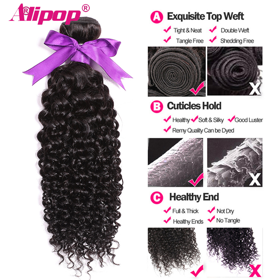 Malaysian Curly Hair With Closure 3 Bundles Remy Human Hair Bundles With Closure Can Customize Into A Curly wig For Free ALIPOP  (5)