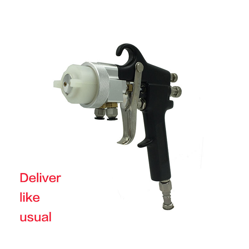 SAT1182 Paint Chrome Double Action Airbrush Air Spray Gun Car Paint Gun Double Nozzle Spray Gun Pressure Feed Pneumatic Paint