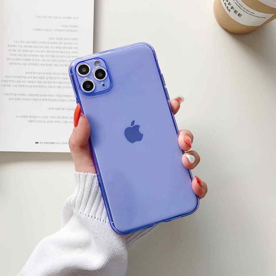 Neon Fluorescerende Kleur Telefoon Case Voor Iphone11 Case Voor Iphone 11 Pro Max X Xr Xs Max 6 6S 7 8 Plus Volledig Beschermd Soft Cover