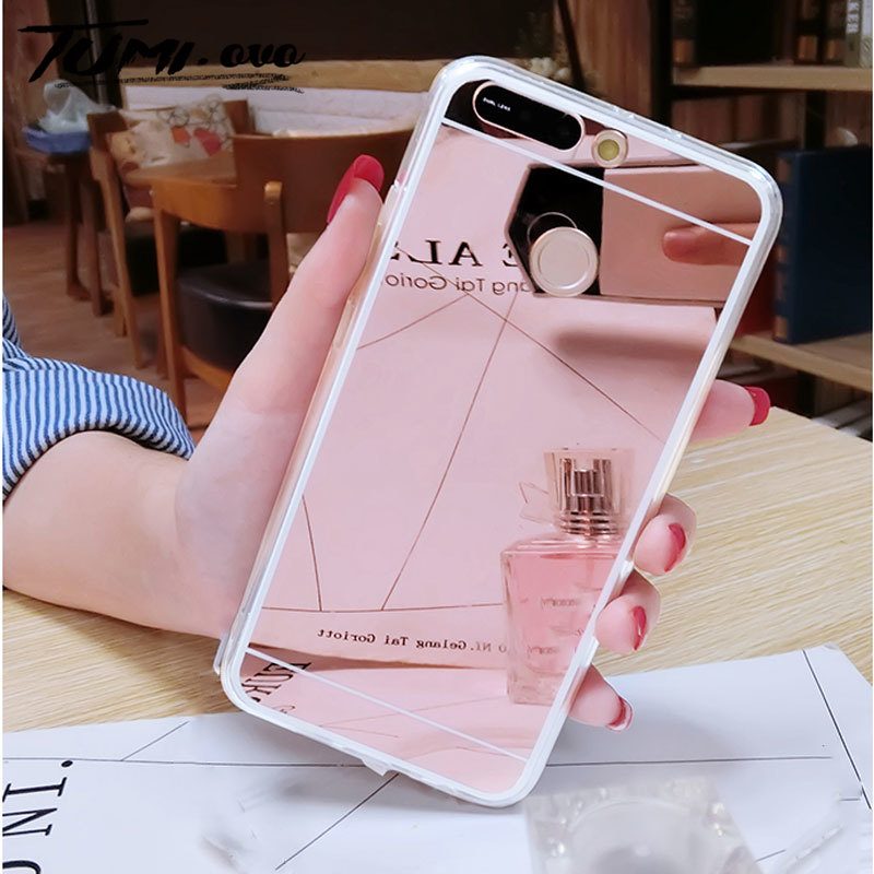 Mirror <font><b>Cover</b></font> on for <font><b>Huawei</b></font> <font><b>Y6</b></font> Y7 Y9 Prime 2018 <font><b>2019</b></font> <font><b>Case</b></font> Soft TPU for <font><b>Huawei</b></font> Honor 7A 7C Pro 8A 8C 8X 8 9i 9 10i 10 Phone <font><b>Cases</b></font> image