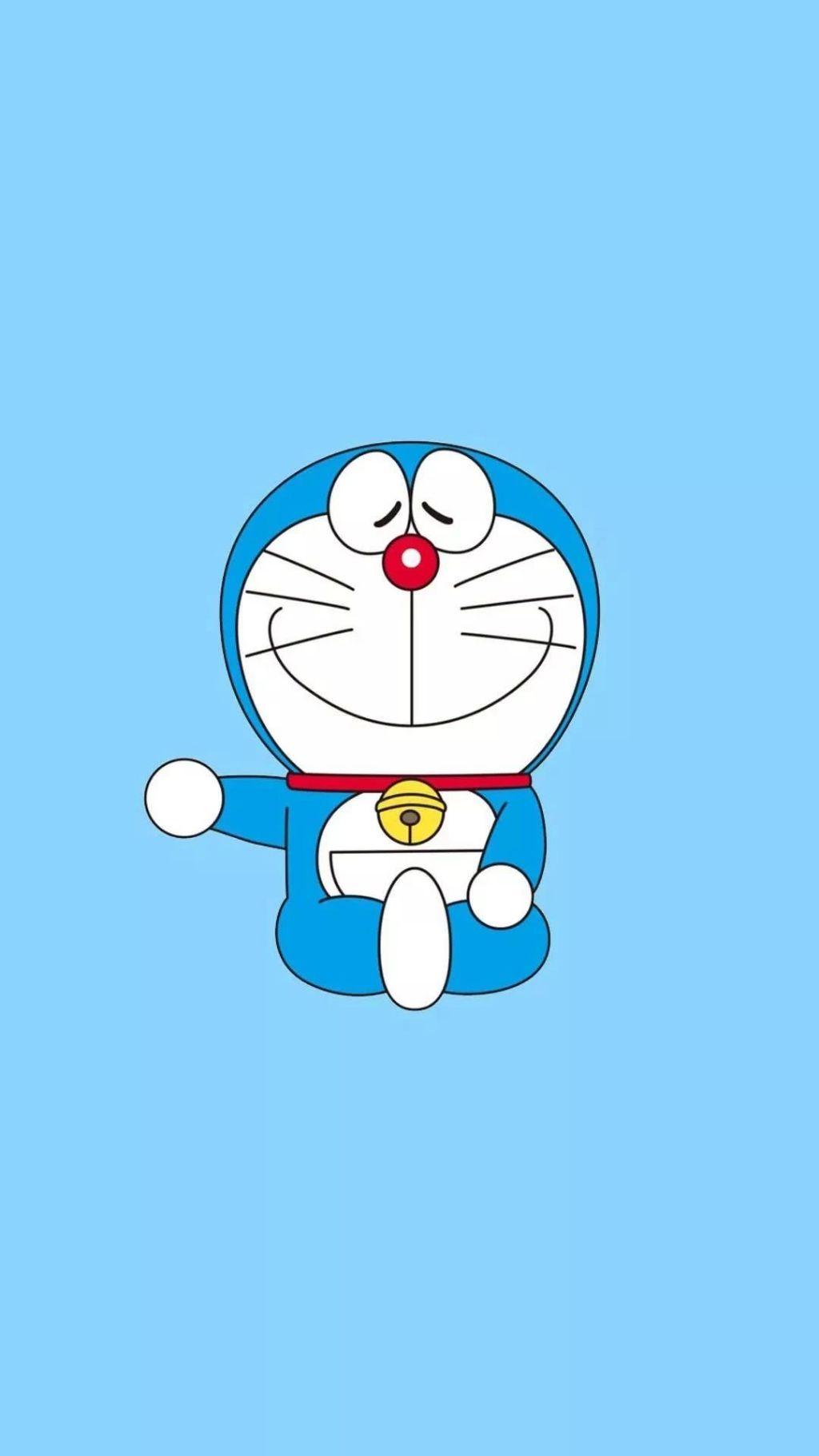 哆啦A梦壁纸:可爱哆啦A梦蓝胖子手机壁纸插图67