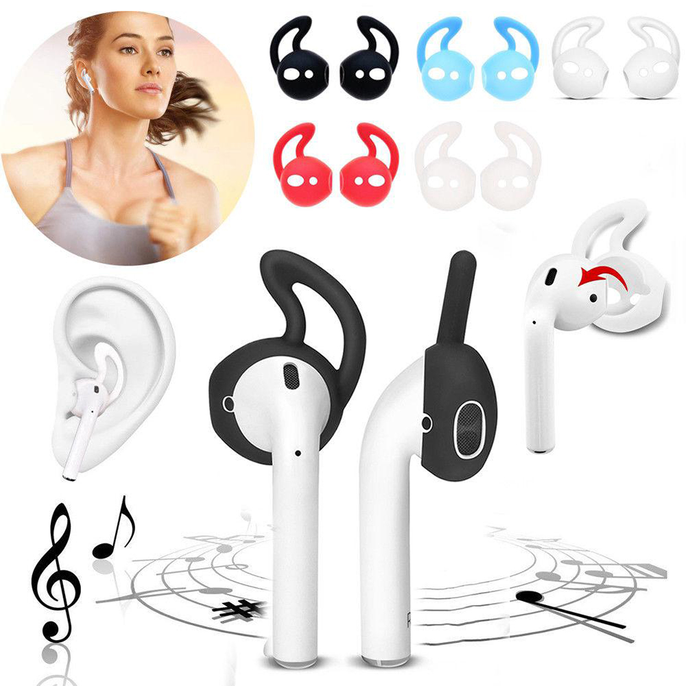 New 2 Pairs For airpods/i9S/i10/<font><b>i11</b></font>/i12/i13/i14/<font><b>TWS</b></font> Non-slip Sport In-ear Earbuds Cap Earphone Covers Ear Hook Protective <font><b>Case</b></font> image