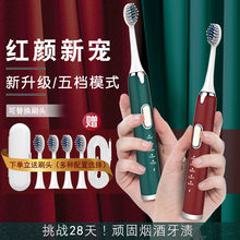 Sonic Electric Toothbrush Adult Timer Brush 5 Mode USB Charger IPX7 Waterproof Rechargeable Tooth Brushes Replacement Heads Set