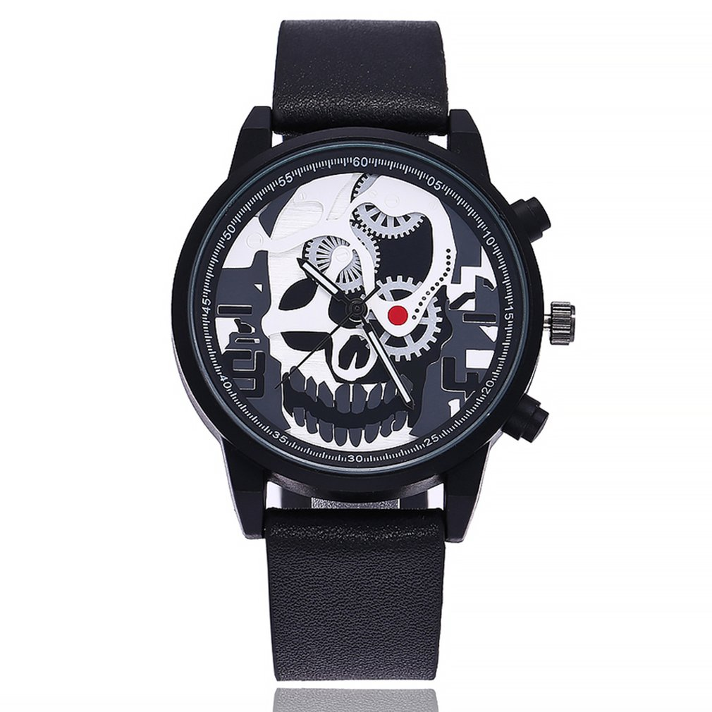 Fashion Trendcy New Men Women Quartz Watch Wristwatch Stainless Steel/Leather Belt Simple Pattern Round Dial Wrist Quartz Watch