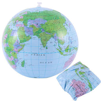 1 PC 40CM Inflatable Globe World Earth Ocean Map Ball Learning Educational Toys for Kids Geography Educational Supplies 1
