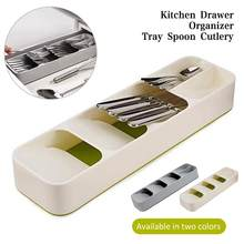 Multi-layer Kitchen Drawer Cutlery Organizer Tray Spoon Knife Fork Separation Finishing Storage Box(China)