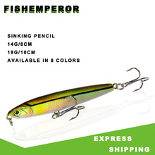 Isca Artificial Pencil Sinking Fishing Lure 14g 18g Bass Fishing Tackle Lures Accessories Saltwater Hard Fish Bait Trolling Lure 1pcs 10 5cm 18g fishing flies ocean beach fishing spinnerbait ice fishing lures trolling lure fishing lure reservoir pond
