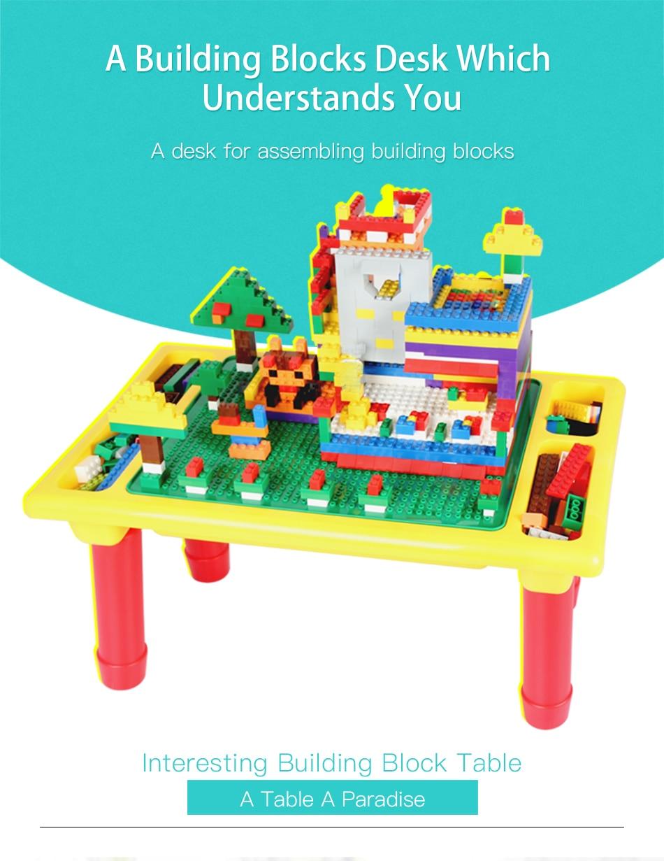 base criativo tijolo mesa brinquedo educativo para