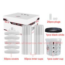 Cup-Lids Spray-Gun-Accessories Pps Paint Liners-Kit Quick-Connector And Inner-Cup 650CC