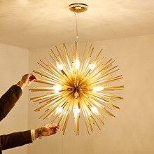 Lampe suspendue en aluminium, style Golden Art pendentif LED, design moderne, luminaire décoratif de pissenlit, idéal pour un salon, une chambre à coucher, une salle à manger ou un Bar