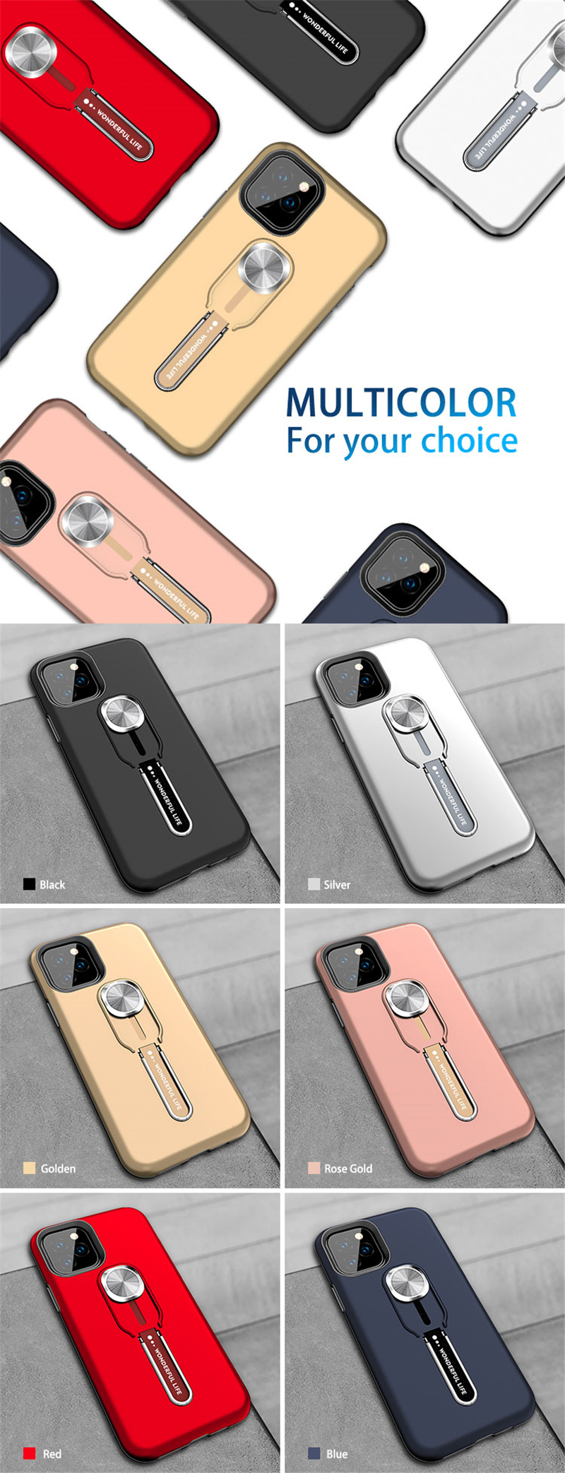 Finger Ring Case for iPhone 11/11 Pro/11 Pro Max 6