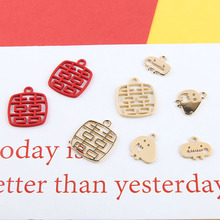 10pcsWind Red Chinese Knot Handmade Accessories Accessories Earrings Accessories Letter Metal Diy Sell Classic Women Wholesale