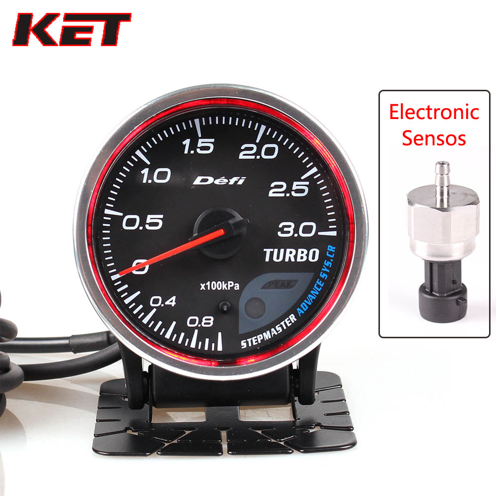 Defi Advance CR 2.5 Inch 60mm 7 Colors 0 3 Bar Turbo Boost Auto Gauge With Electronic Sensor|Boost Gauges| |  - title=