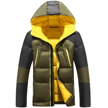 2020 Winter New Men's White Duck Down Jacket Fashion Casual Thicken Hooded Warm Cold Resistant Coat Male Brand Clothes