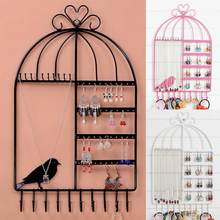 Birdcage Shape 20 hook Jewelry Stand Rack Earrings Necklace Organizer Bracelet Display Holder Bijoux/joyeros organizador de joya(China)