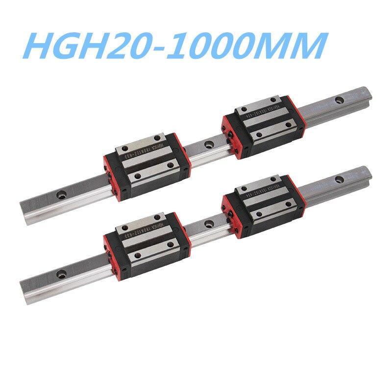 HGR15 Linear Motion Rail Guideway 2pc Rail Block Carriage Replace HIWIN CNC