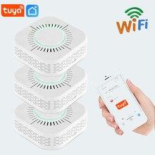 Беспроводной детектор дыма Tuya, Wi-Fi датчик дыма и пожарной сигнализации, охранная сигнализация для домашней автоматизации с приложением Smart ...
