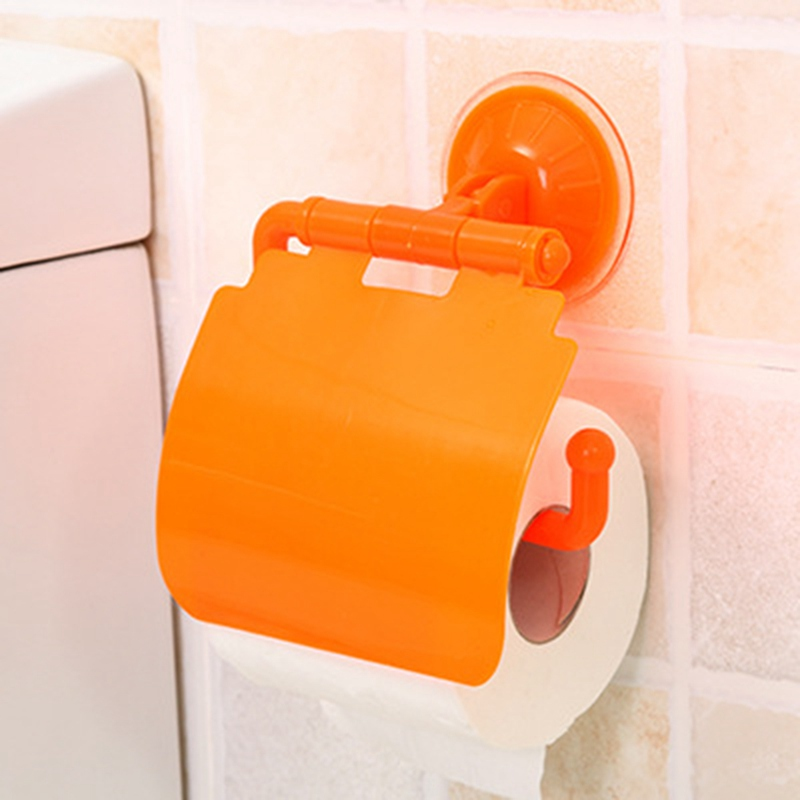 Wall Mounted Plastic Suction Cup Bathroom Toilet Paper Roll Holder Bathroom Accessories Toilet Paper Holder