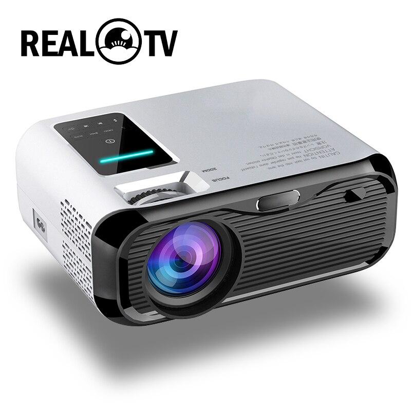 Реальный ТВ E500 HD проектор 3500 люменов поддержка 1080P домашний кинотеатр HDMI-совместимый VGA AV TF USB