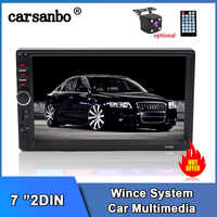 Carsanbo 7 Inch 2 Din Auto Audio Car Video Stereo Mirror Link Car Touch Screen Player Multimedia Mp5 Bluetooth radio USB TF FM
