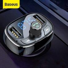 Baseus – transmetteur FM Bluetooth mains libres pour voiture, Kit Audio lecteur MP3 avec chargeur double USB 3.4A, modulateur FM