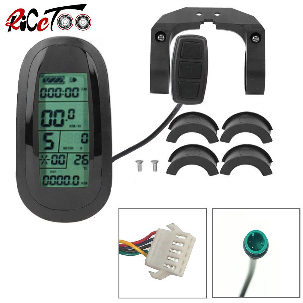 RICETOO Electric Bicycle 36V//48V Intelligent KT-LCD3 Display E-bike Connector Control Panel SM//Waterproof Plug Accessories