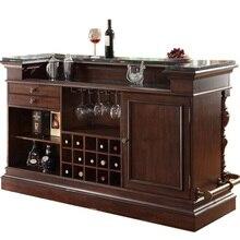 105 см высокий обеденный барный шкаф с искусственным мраморным верхом/150 см длина особняк домашний бар для ужина вечерние/из бука