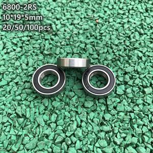 20/50/100 шт 6800-2RS резиновое запечатанное изготовленные тонкостенные подшипники шариковые подшипники с глубоким желобом 6800RS 61800 2RS 10x19x5 мм